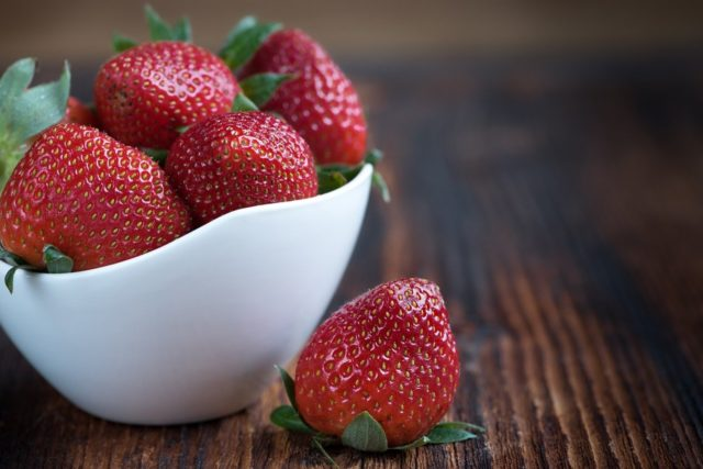 Selbstgemachter Erdbeerlimes